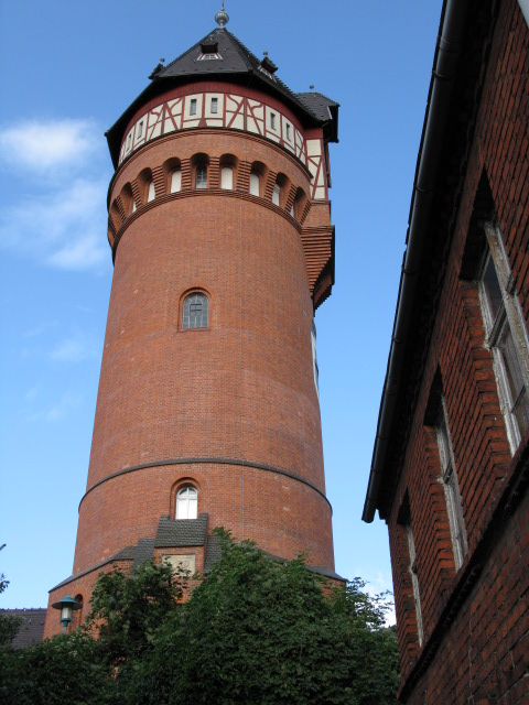 Wasserturm Weinbergstraße, Burg (Water tower at the end of Weinbergstraße, Burg)