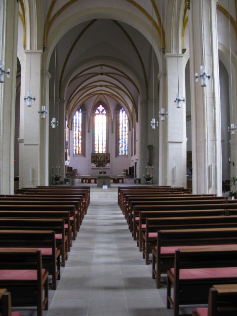 Interior of St Sebastian Kirche