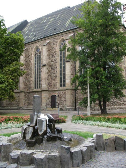 Small fountain at eastern end of St Sebastian Kirsche