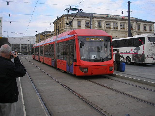 Tram outside Chemnitz Hbf