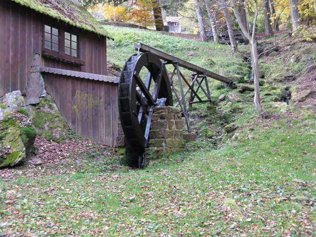 Waterwheel in Bad Wildbad Kurpark