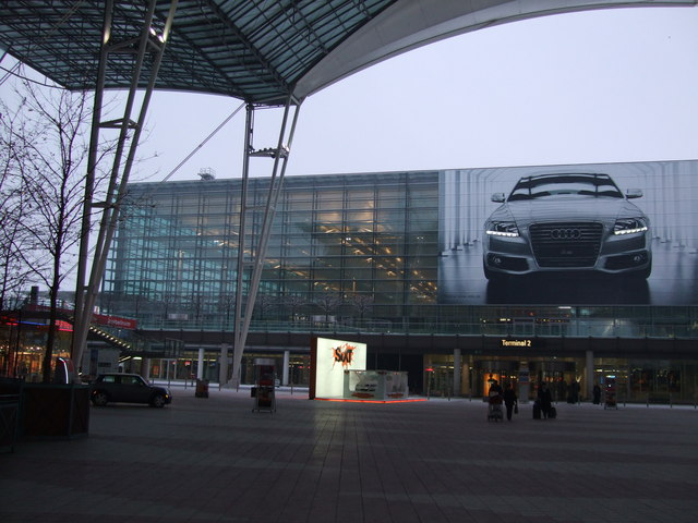 Entrance to Terminal 2 Munich Airport