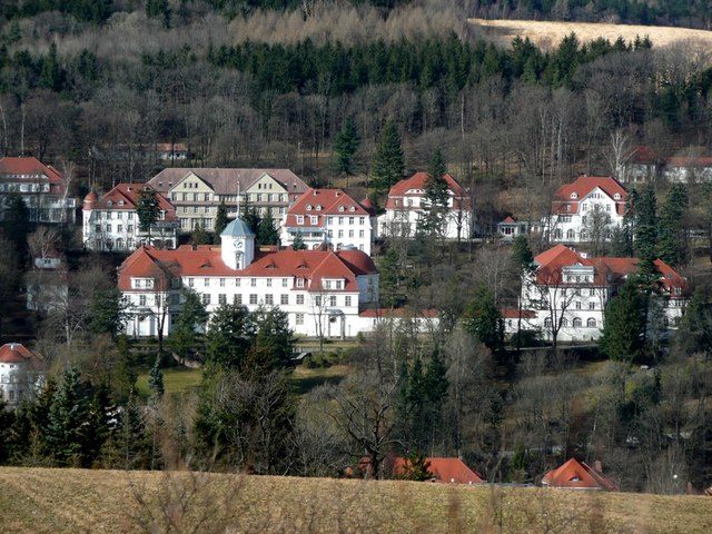 Gesundheitspark Bad Gottleuba (The sanatorium in Bad Gottleuba)