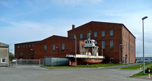 Barth: Blick zur alten Zuckerfabrik (Technikmuseum Barth)