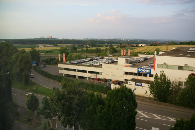 Blick aus dem dritten Stock des Holiday Inn Express, Echterdingen (View from the third floor of the Holiday Inn Express, Echterdingen)