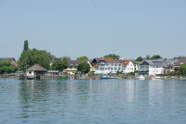 Ferry Platz auf der Südseite der Reichenau (Ferry terminal on the south side of Reichenau)