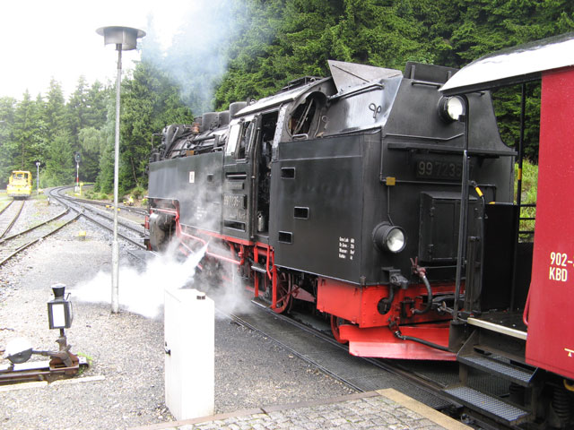 Lokomotive der Harzer Schmalspurbahnen (HSB), Schierke (Locomotive of the Harz narrow gauge railways (HSB), Schierke)