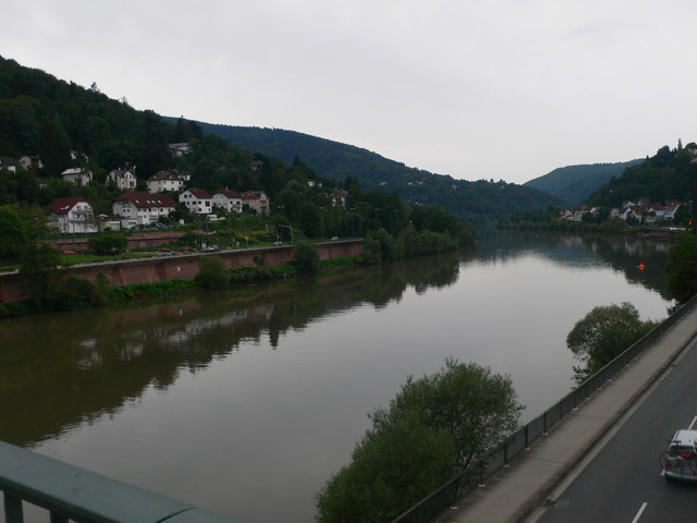 The River Neckar from the Ziegenhauser Brucke, Heidelberg