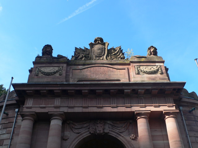 Detail of Karl's Gate, Heidelberg