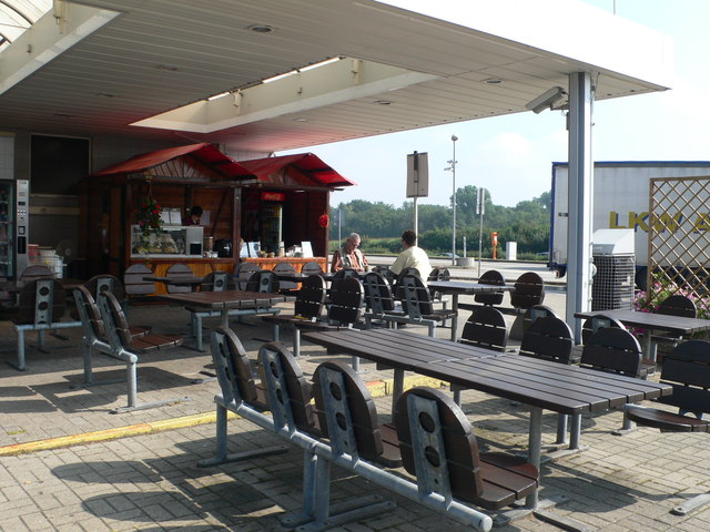 Service station on the A5 Motorway