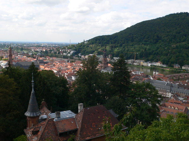 Blick vom Schloß Heidelberg (View of Heidelberg from the Castle)