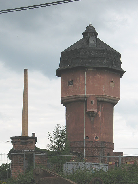 Wasserturm im Bahnhof Saalfeld (Water tower at Saalfeld station)