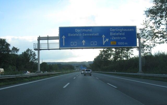 A2 Kreuz 27 Bielefeld Zentrum 1000m Mgrs