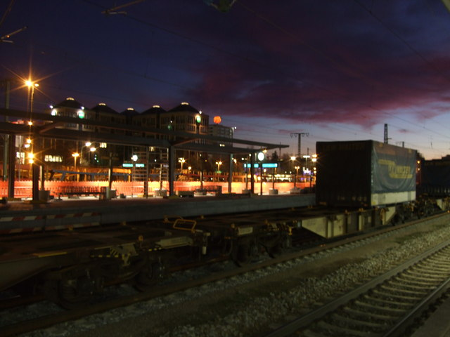 Evening view from Munich Ostbahnhof