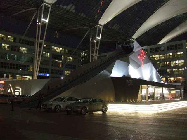 Launch for the Audi A6 at Munich Airport
