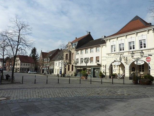 marktplatz in krefeld h ls mgrs 32ulb2694 geograph. Black Bedroom Furniture Sets. Home Design Ideas