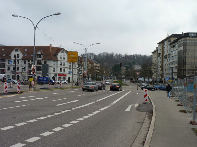 Junction of B3 and B31 in south Freiburg