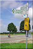 Wegweiser bei Edelshausen