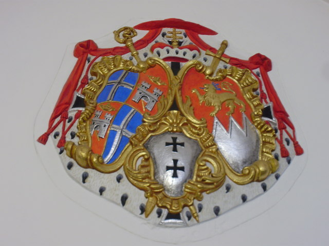 Coat of arms of the Diocese of Speyer under Cardinal Damian Hugo Graf von Schönborn in Bruchsal (Coat of Arms at Bruchsal Castle)