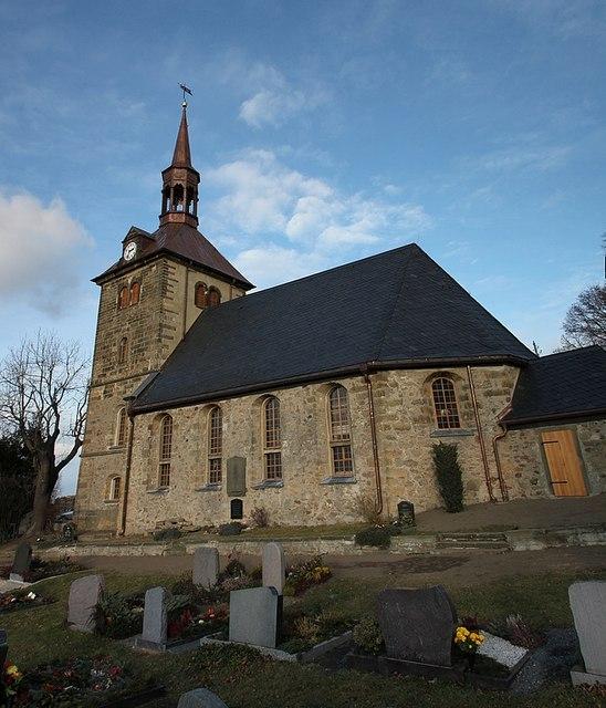 B 246 Rnersdorf Blick Auf Die Dorfkirche Mgrs 33uvs2131