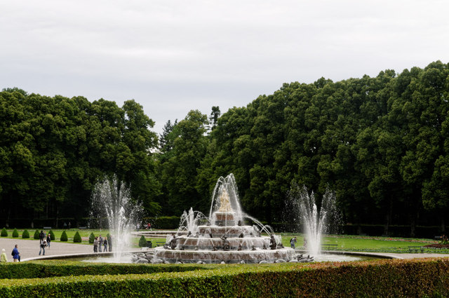 Herrenchiemsee: Brunnen im Park
