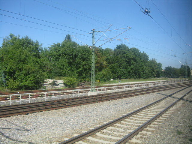 S-Bahn Gleise in der Nahe von Feldmoching (S-Bahn tracks on the approach to Feldmoching)