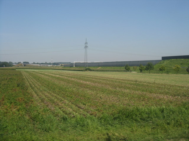 Autobahn E45 from the S-Bahn