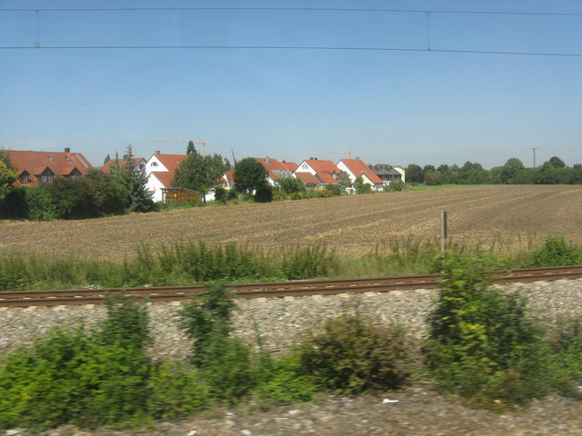 Houses on Leuschnerstrasse from the S-Bahn