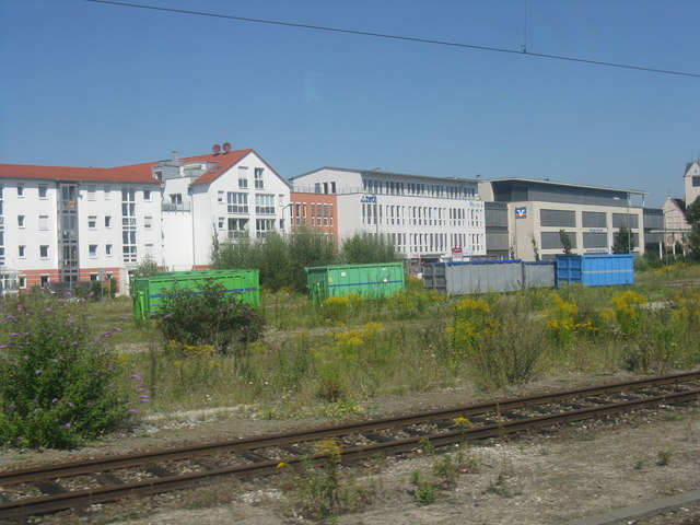 Buildings on the approach to Freising