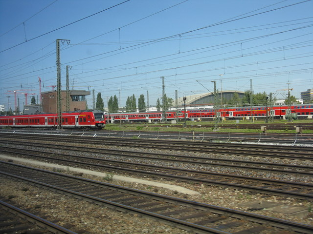 Carriage sidings outside Munich Hbf.