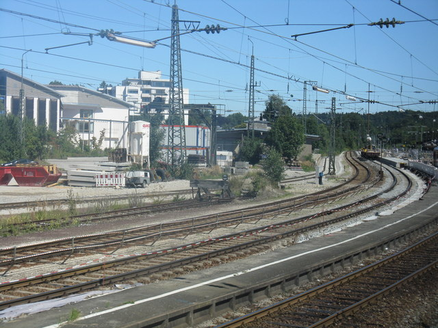 Einfahrt in den Traunsteiner Bahnhof (Entering Traunstein station)