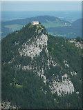 Burgruine Falkenstein vom Breitenberg aus gesehen