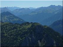 Aggenstein: Blick zu den Stubaier Alpen