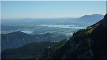 Aufstieg zum Aggenstein: Blick ins Alpenvorland