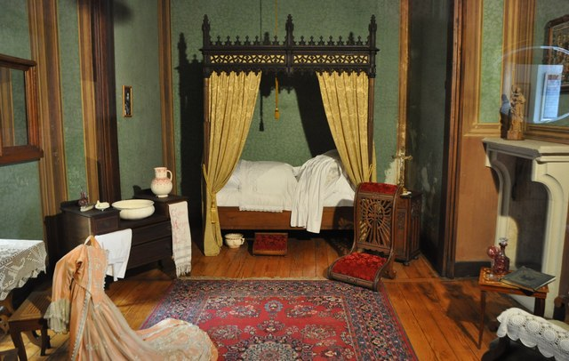 Mainz-Bingen : Burg Rheinstein - Princess' Bedroom