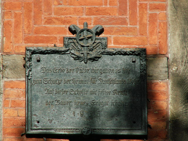 Plaque on Pension wall