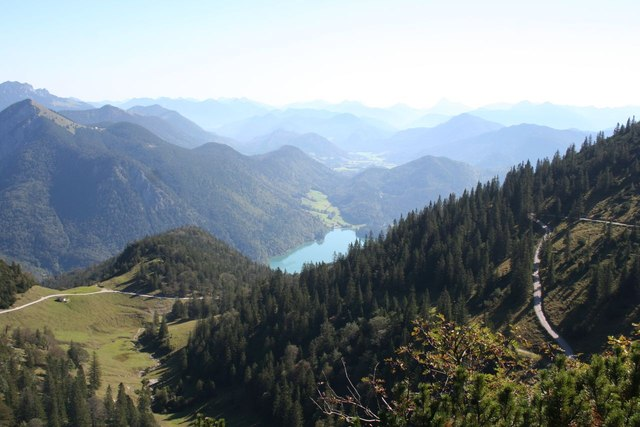 Northeastward view from Berggasthaus Herzogstand