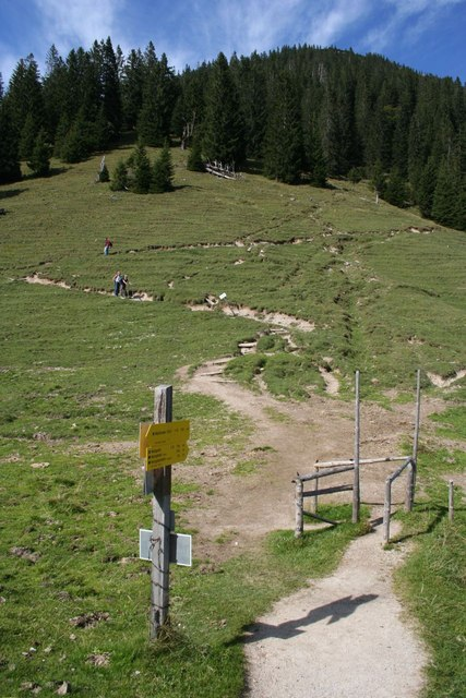 The descent from Heimgarten