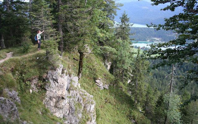 Descending to the Walchensee