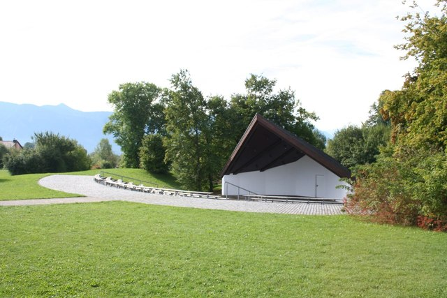 Outdoor stage in Kurpark, Murnau