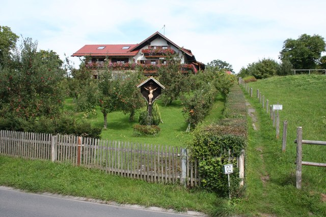 A house and orchard on Murnauerstraße, Uffing