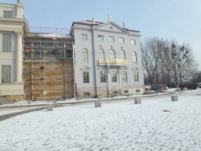 Construction at the Knobelsdorffhaus