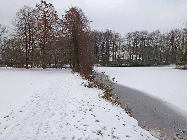 Ibrüggers Pond in winter