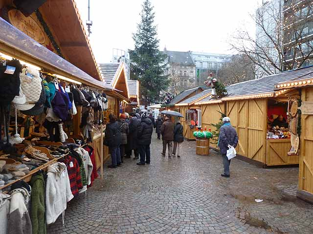 Christmas market in the Rudolflplatz