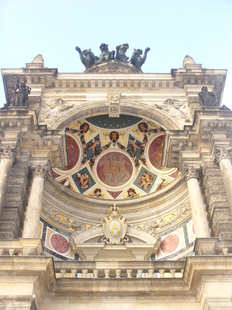 Dresdner Semperoper - Hauptportal (Dresden Semper Opera House - Main Entrance)