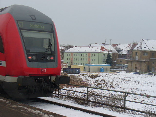 Meissen - Zug und Baulage (Train and Building Site)
