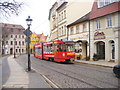 UVT5434 : Cottbus - Tram in der Altstadt (Tram in the Old Town) von Colin Smith