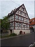 Gönningen: Fachwerkhaus an der Hauptstraße