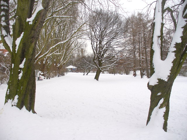 Steglitz - Baekepark bei Schnee (Baeke Park in the Snow)