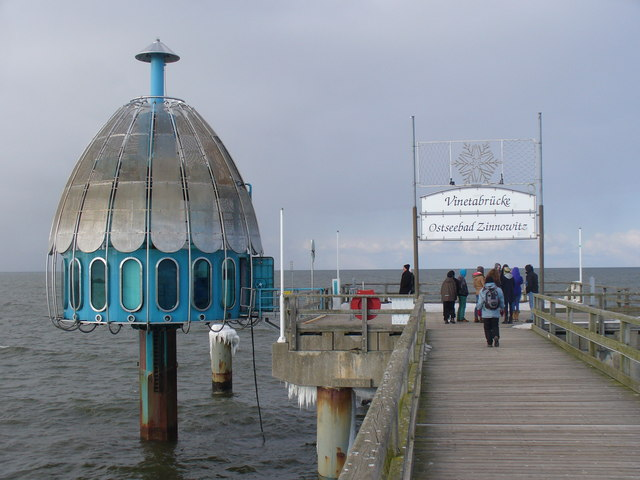 Vinetabruecke - Ostseebad Zinnowitz (Vineta Pier - Zinnowitz Baltic Sea Resort)